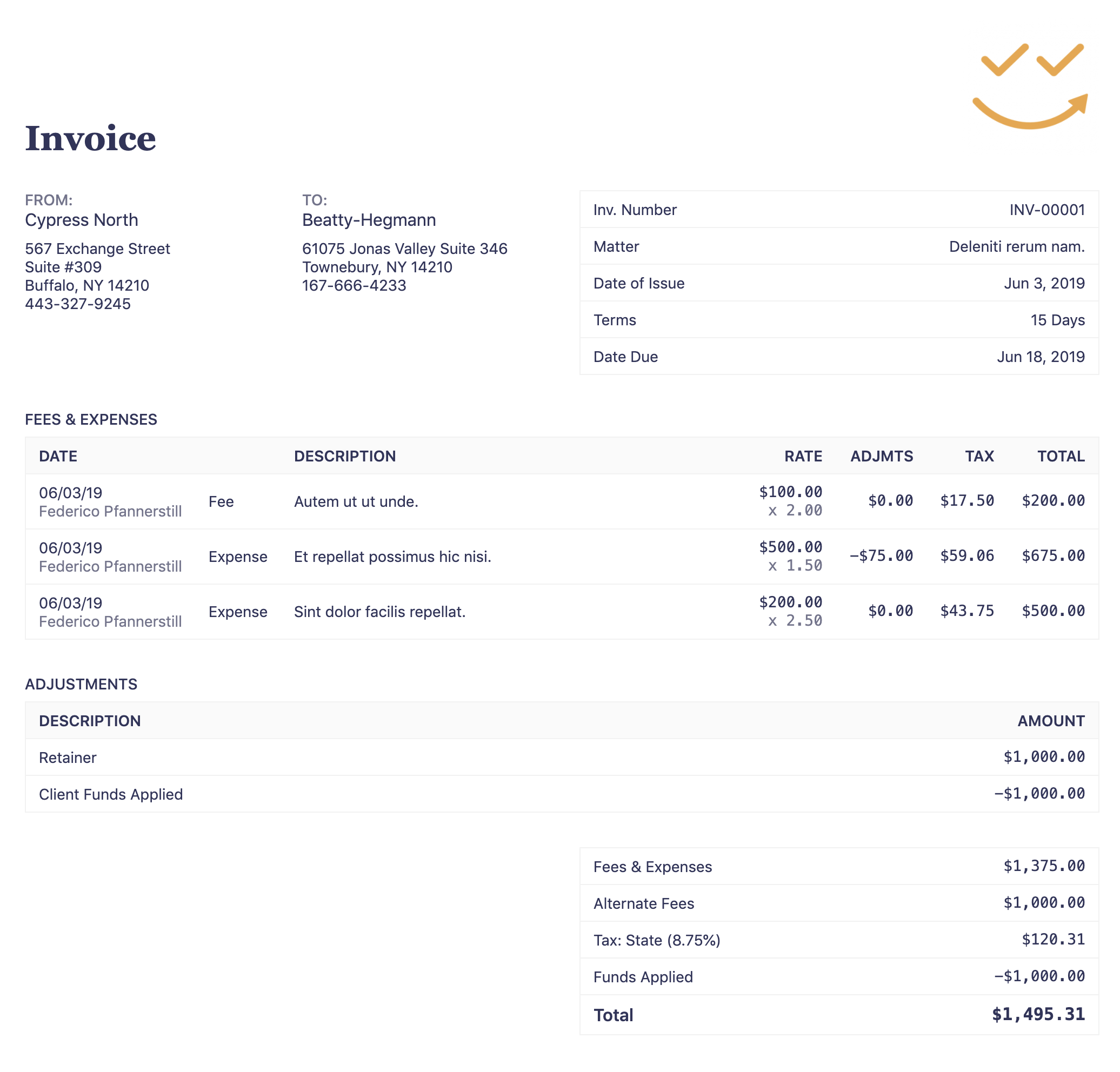 How To Make A Professional Legal Invoice Template Easy